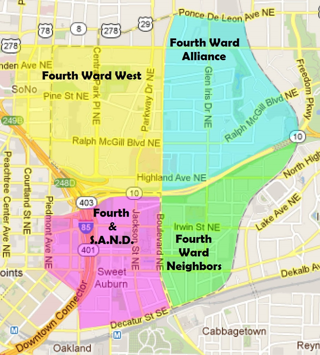 map of old 4th ward atlanta ga city of atlanta - Google Maps